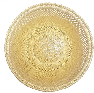 MY HOPE Natural Bamboo Round Basket Fruit Vegetable Bread for Dinner Breakfast 11 Inch