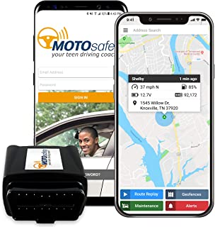 GPS Tracker for Vehicles - MOTOsafety 4G Real Time OBD Tracking Device for Kids & Cars & Vehicle Monitoring System