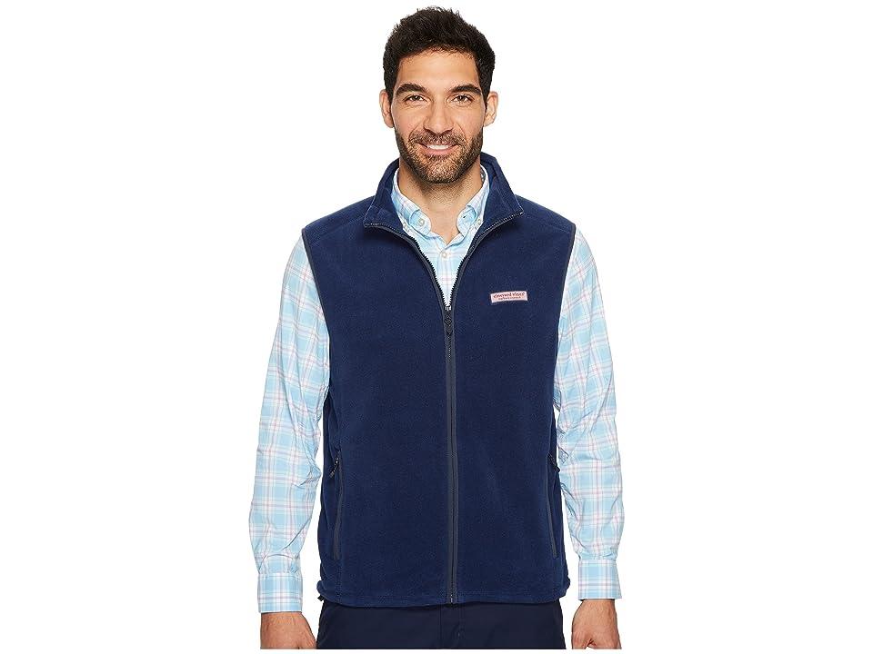 Vineyard Vines Fleece Harbor Vest (Midnight) Men