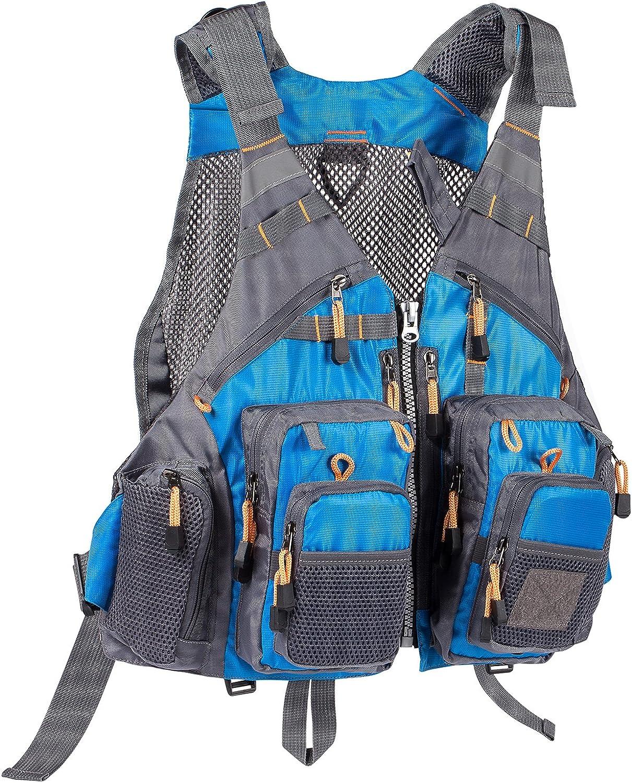 BASSDASH Strap Fishing Vest Adjustable OFFicial shop and Inexpensive Men for Fl Women