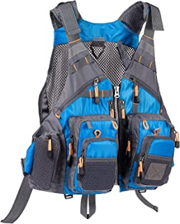 Bassdash Strap Fishing Vest Adjustable for Men and Women, for Fly Bass Fishing and..