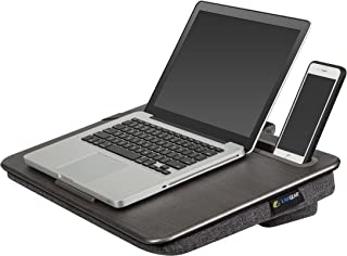 "LapGear Elevation Lap Desk with Booster Cushion -Gray Wood(Fits up to 17.3"" Laptop)"