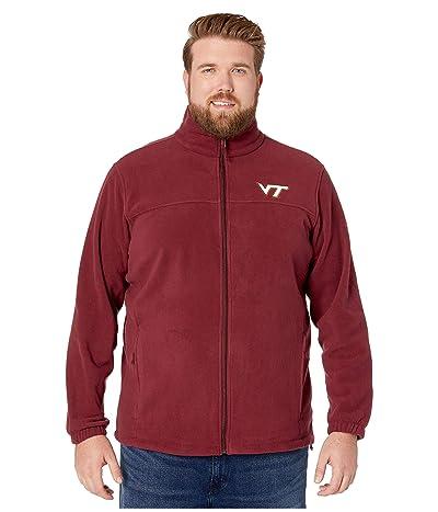 Columbia College Big Tall Virginia Tech Hokies CLG Flankertm III Fleece Jacket (Deep Maroon) Men