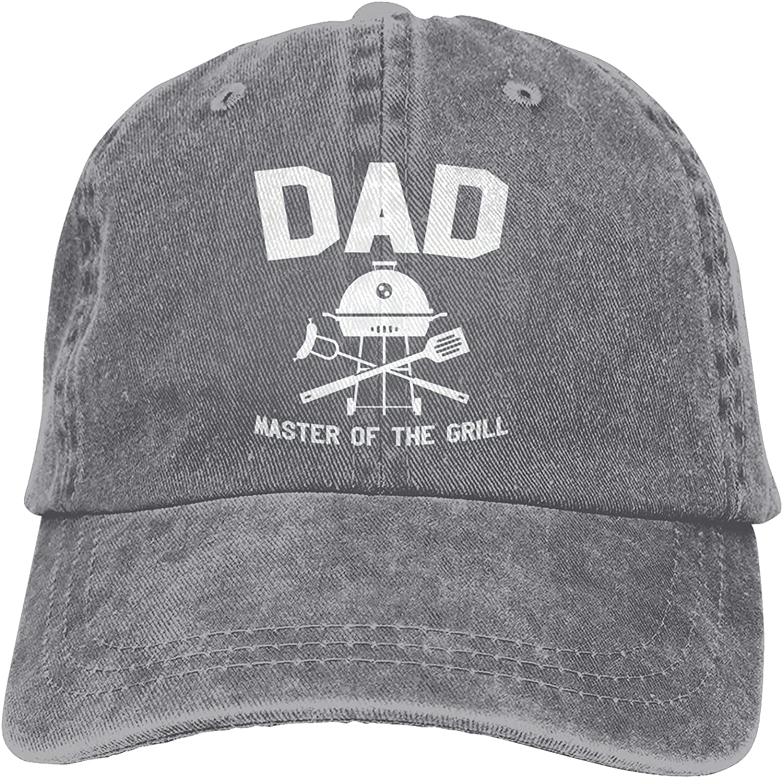 BGWORZD Dad Master of The Grill Hat Adjustable Washed Unisex Dad Hat Cowboy Cap Denim Cap Baseball Cap