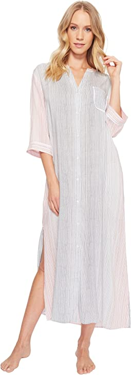 Donna Karan Striped Maxi Sleepshirt