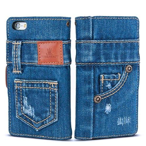 aa3060de86 「UK Trident」本格デニム iPhone6 / iPhone6s 兼用 手帳型アイフォンケース