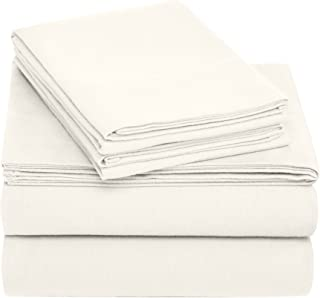 Pinzon Cotton Flannel Bed Sheet Set - Twin, Cream