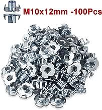 kit assortimento dadi autobloccanti in nylon in lega di alluminio dadi esagonali con flangia anodizzata Set di dadi esagonali M2 M3 M4 M5 da 10 pezzi