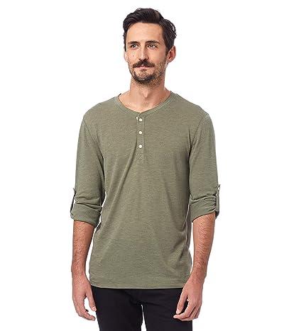 Alternative Long Sleeve Surplus Henley (Eco True Army Green) Clothing