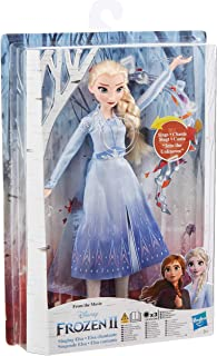 Disney Frozen Singing Elsa Fashion Doll with Music Wearing Blue Dress Inspired Frozen 2, Toy for Kids 3 Years and Up