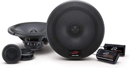 Alpine R-Series 6.5 Inch 300 Watt Component 2-Way Car Speakers, Pair | R-S65C