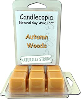 Candlecopia Autumn Woods Strongly Scented Hand Poured Vegan Wax Melts, 12 Scented Wax Cubes, 6.4 Ounces in 2 x 6-Packs