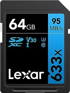 Lexar Professional 633x 64GB SDXC UHS-I Card (LSD64GCB1NL633) , Black