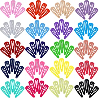 AVARZA 100pcs 2 Inch Metal Hair Clips Solid Candy Color Non-Slip Metal Barrettes for Kids Girls and Women (20 colors)
