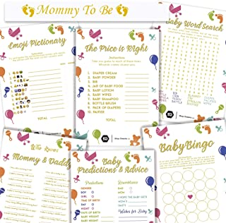 Shop Dreams - Baby Shower Games - with Mommy to be Sash, 6 Unique Games, 25 Sheets Each Game, Fun Baby Shower Games and Activities, Perfect For Baby Shower Gifts, Party Games, Fun Games