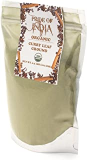 Pride Of India- Organic Curry Leaf Powder Ground - 8 oz (Half Pound) Resealable Pouch - Authentic Indian Spice Blend - Used in Soups, Stews, Chutneys and Rice etc. - Offers Best Value for Money