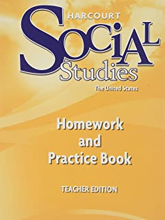 Harcourt Social Studies: Homework and Practice Book Teacher Edition Grade 5 United States