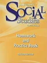 Harcourt Social Studies: Homework and Practice Book Teacher Edition Grade 5 United States