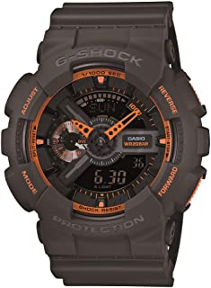 Men's GA-110TS-1A4 G-Shock Analog-Digital Watch With Grey Resin Band