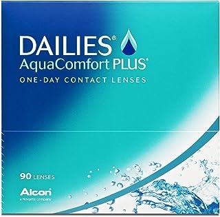 Dailies Aqua Comfort Plus - Lentes de contacto esféricas diarias (R 8.7 / D 14 / -2 Diop), Pack de 90 uds.