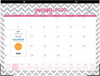 Dabney Lee for Blue Sky 2020 Monthly Desk Pad Calendar, Two-Hole Punched, Ruled Blocks, 22