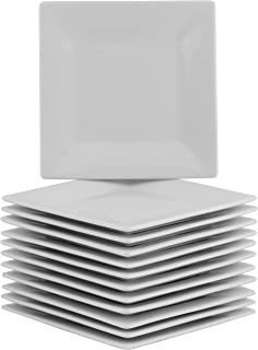 10 Strawberry Street 6SQ-12ACE-BB Party Pack Appetizer Plates, White