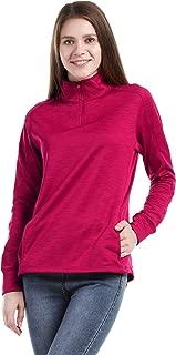 Women's 1/4 Zip Fleece Sweatshirts Slim Fit Microstripe Windproof Pullover Outdoor Running Athletic Jackets Shirts