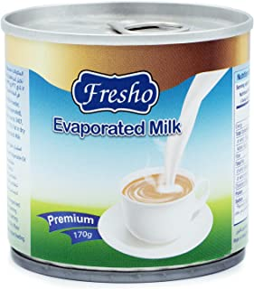 Low Fat Evaporated Milk Pack | Tastier & Healthier | Top Quality Fresh Evaporated Milk Pack | 100% Pure Milk - 170 g ( Pac...