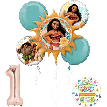The Ultimate 8 Guest 51pc Moana the Movie Birthday Party Supplies and Balloon Decoration Kit Anscam