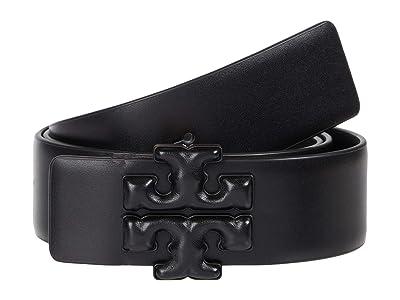 Tory Burch Eleanor Logo Belt (Black) Women