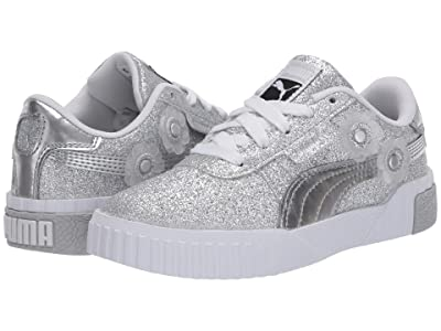 Puma Kids Cali Ice Flower (Little Kid) (Metallic Silver/Metallic Silver) Girls Shoes