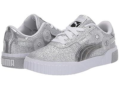 Puma Kids Cali Ice Flower (Little Kid) (Metallic Silver/Metallic Silver) Girls Shoes