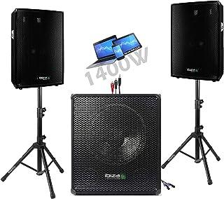PACK SONO ENCEINTE + CAISSSON DE BASSES + PIEDS + CABLES HP et PC offerts !!! - PA DJ SONO MIX idéal soirée dansante disco...