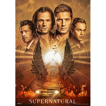 Poster Supernatural New Season 9 8 7 Room Club Art Wall Cloth Print  217