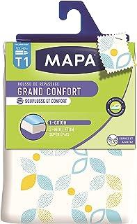MAPA - Housse de Repassage pour table à repasser - Souple - Haute Résistance - Grand Confort - Taille 1 : 120x40 cm