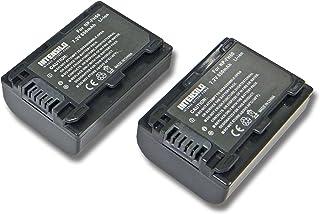 INTENSILO 2x Li-Ion batería 650mAh (7.2V) para cámara de video Sony DCR-SX30 DCR-SX30E DCR-SX31 DCR-SX31E por NP-FH50 NP-FH40