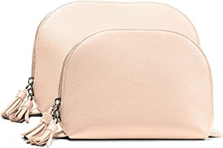 Leatherology Rose Clamshell Makeup Bag Set