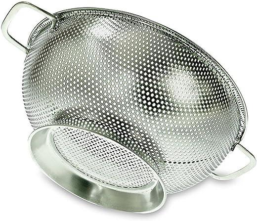 مصفاة مطبخ من الفولاذ المقاوم للصدأ مع شبكة رقيقة، عرض 26 سم، سعة 3 لتر