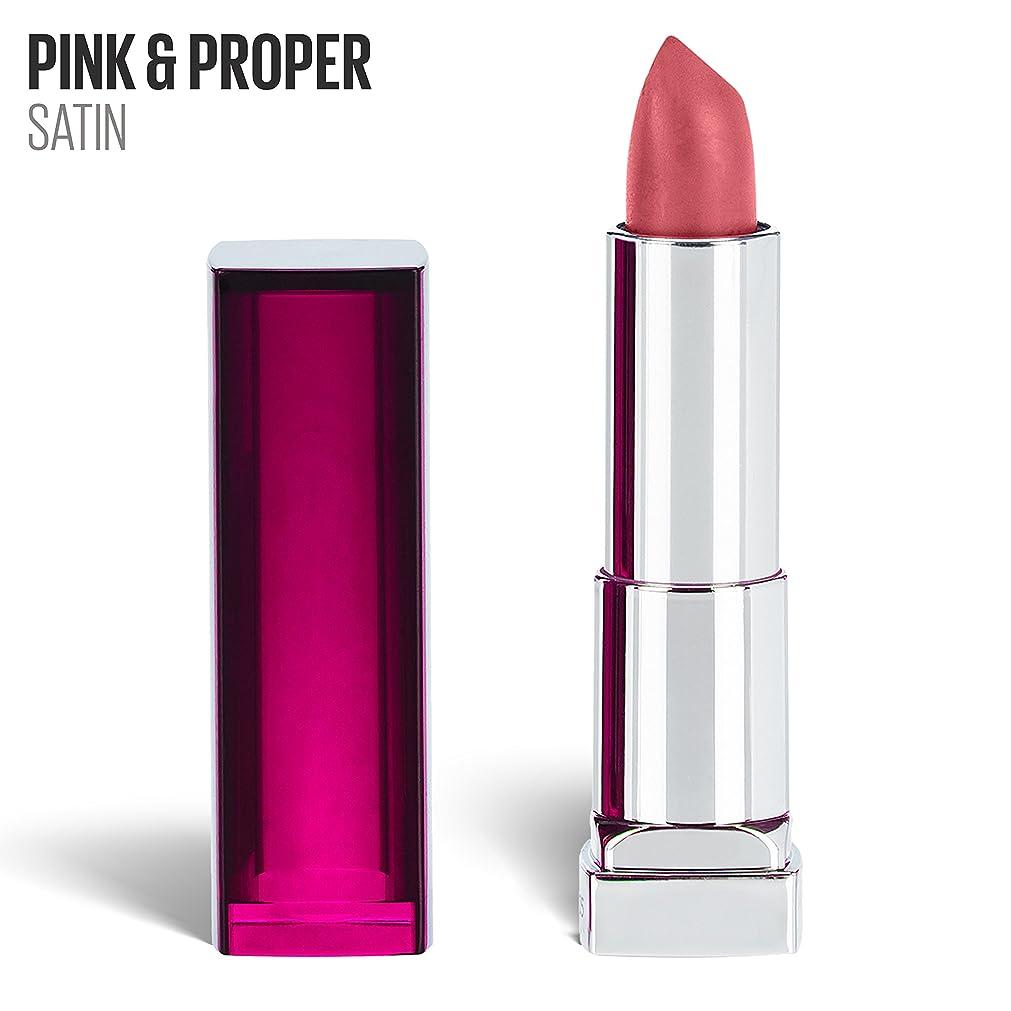 物理ダメージブロックMaybelline New York 色センセーショナルなピンクの口紅、サテン口紅、ピンク&適切、0.15オズ