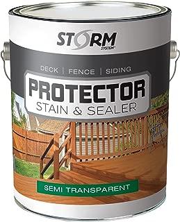 Storm Protector Penetrating Sealer & Stain Protector - Deck Protector, Fence Protector, Mahogany Stain, Redwood Stain, 1 Gallon (Cedartone)