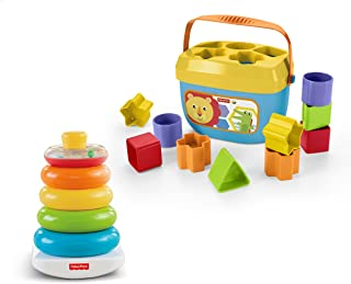 Fisher-Price Rock-a-Stack and Baby First Blocks Bundle [Exclusivo de Amazon]
