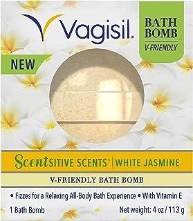 Vagisil Scentsitive Scents V-friendly Bath Bomb Ph-friendly for Sensitive Vaginal Skin, White Jasmine