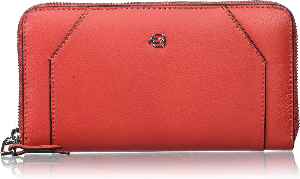 Piquadro portafoglio porta carte di credito da donna in pelle PD1515MUSR