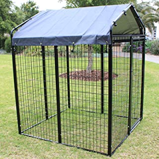 Super Heavyduty Dog Pen Run with Waterproof Cover Roof - Chicken Coop - Cat Enclosure