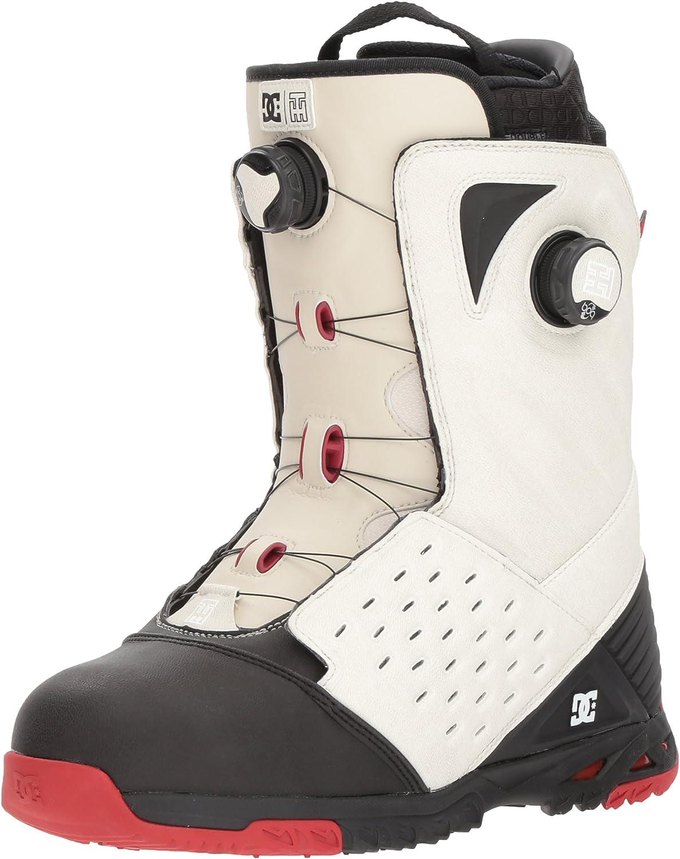 DC Men's Torstein Horgmo Dual Boa Snowboard Stiefel, 11.5, Weiß schwarz rot