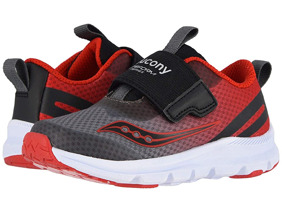 Saucony Kids Baby Liteform (Toddler/Little Kid) (Grey/Red) Boys Shoes