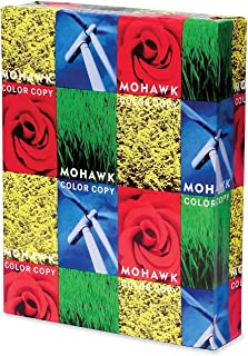 Mohawk 100% Recycled Color Copy/Laser Paper, 96 Brightness, 7.2 lb, Letter Size (8.5 x 11), 500 Sheets (54-301)