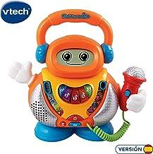 VTech-80-108022 Kidikaraoke Karaoke interactivo para aprender las canciones más populares, pantalla LCD, transforma tu voz de 4 formas distintas, versión española, color surtido, 18m+ (80-108022)