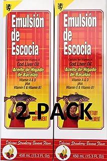 Emulsion De Escocia Strawberry Banana 15.3 Oz. Cod Liver Oil 2-Pack