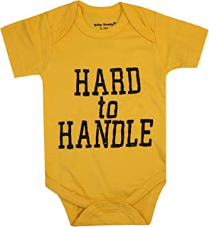 Silly Souls, Inc Hard to Handle, Unisex Cute Yellow Bodysuit Cotton